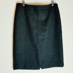 J. Crew 100% Wool Grey Pencil Skirt Size 8